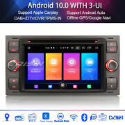 Android 10.0 Car Stereo Ford Focus Fiesta Kuga S-max Galaxy Transit Connect Wifi