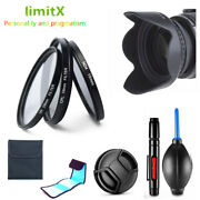 52mm Filter Kit Cpl Nd Uv / Lens Hood / Cap / Cleaning Pen For Camera And Lens
