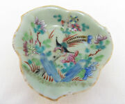 Antique Chinese Famille Rose Tongzhi Footed Leaf Dish
