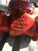 """6"""" Waterous Flanged Check Valve, 16"""" Lay Length, Iron"""