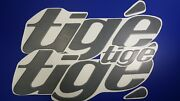 Tige Boat Emblems 32 Gray + Free Fast Delivery Dhl Express