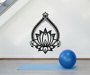 Vinyl Wall Decal Lotus Ornament Flower Nature Yoga Stickers Mural G562