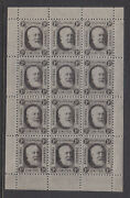 Cinderellas Gb National Telephone Company Stamp 1d Full Sheetlet Of 12 Muh.