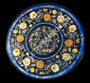 36x36 Inlay Lapis Lazuli Marble Table Top Mosaic Outdoor Decor Gifts E480a