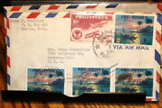 4237philippines Great Multiple Stamp Cover Manila/ravenna O 1960