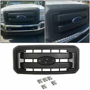 Black Front Radiator Hood Grille Fit 11-16 Ford F250 F350 Super Duty Bc3z8200g