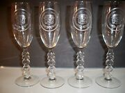 4 Cadillac Automobile Goblets Millenium Barware Extremely Hard To Find