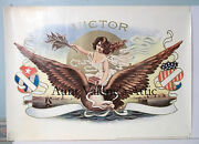 Antique Cigar Box Label Print 20x28 1900 Embossed Victor F.m. Howell Co.