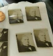 Antique Photograph 4 Mckinley Us President Postage Stamp Size