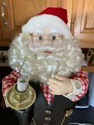 Santa Claus Animated Telco Motionette Lighted Candle Stopwatch Letters To Santa