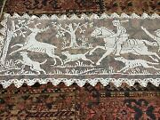 Antique Lace With Hunting Theme Deer Elk Dogs