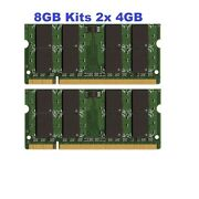 8gb 2x 4gb Ddr2 Sodimm Pc2-6400 800mhz Laptop Memory Ram For Dell Vostro 1720