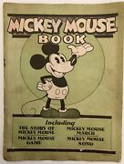 Rare 1930 Mickey Mouse Book Walt Disney Game Song Complete Bibo And Lang