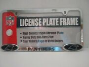Nfl Panthers Die Cast Zinc License Plate Cover New