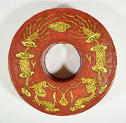 Antique Chinese Qing Mandarin Court Necklace Beards Box Late 19th C. Dragon
