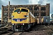 Union Pacific E9 951 Roundhouse 20x30 Photo Picture Train Wall Art Giclee Canvas