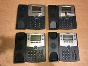 Lot Of 4 Cisco Spa508g Voip 8-line Poe Business Ip Phone W/o Headset