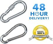 Carabiner Clip Choose Basic Or Screw Lock Large And Small Heavy Duty