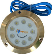 Deeptech Bora Led Underwater Light Boat And Yacht White Color Bronze Case 40w