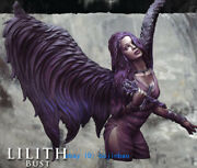 1/10 Scale Bust Model Unpainted Succubus Lilith Resin Figure Unassembled Statue