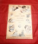 Vintage Collectible 1913 Christmas Ladiesand039 Home Journal Rare Amazing Find
