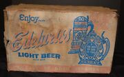 Vtg Edelweiss Star Brewery Beer Case Crate And 23 Glass Bottles Rare Thick Beer B