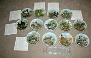 1982 Southern Living Collector Plate Game Birds Of The South Lot Of 13 Waterfowl