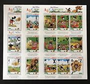 Mali Walt Disney Abcand039s With Mickey Stamp Sheets 3 Mnh 1996 A To Z Pluto Abc