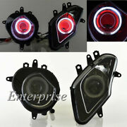 Projector Headlight Hid+white Halo+red Demon Eye For Bmw Hp4 13-14 S1000rr 09-14