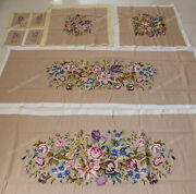 Shabby Chic Vintage Authentic Sofa Chair Cover Sets Rose Lily Daisy Hand Woven