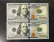 2 Consecutive 2009 United States 100 Star Replacement Bills Uncirculated 200