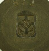 Negative Steel Die Stamp Mold Hub Knights Of Columbus Former State Chaplain