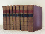 The Works Of Sir Walter Raleigh - 1829 1st Ed. 8v Fine Leather Bindings