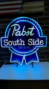 Pabst Blue Ribbon And039southsideand039 Custom Neon Beer Sign..brand New And Rare..nib