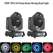 2pcs 230w 7r Sharpy Beam Moving Head Stage Light Touch Screen Dmx Show Lights