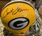 Bart Starr Autographed Signed Pro Line F/s Packers Helmet Mounted Memories