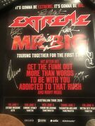 Extreme And Mr Big Hand Signed Australian Tour Poster 2018
