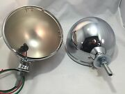 Pair Kingbee Chrome 7 Street Rod Headlight Lamp Buckets Assembly Wired King Bee