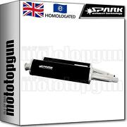 Spark 2 Exhaust Low Approved Black Oval Ducati Monster 1000