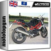 Spark 2 Exhaust Low Approved Titanium Oval Ducati Monster 1000