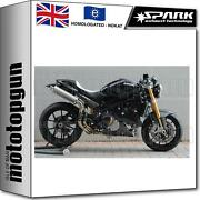 Spark 2 Full System Exhaust High Nocat Approved Oval Ducati Monster S4r 2008 08