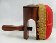 Antique Sewing Clamp Pin Cushion Wood Folk Art 19th C. Hand-carved Table Clamp