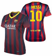 Nike Lionel Messi Fc Barcelona Womenand039s Home Jersey 2013/14