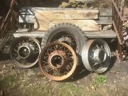 Vtg Set Of 4 1930's Ford Model A / Truck Rims Assorted Size