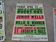 Buddy Guy Jr Wells Motown Boxing Style Concert Poster