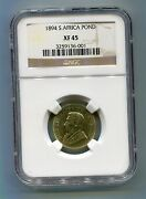 1894 South Africa Zuid Afrika Kruger Pond Ngc Xf 45 - Great Coin - Low Mintage