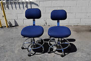 2 Fabric Chair Electronic Esd Anti-static Industrial Safe Clean Room Drag Chain