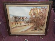 Original Watercolor Painting By J. Thompson East Texas Relic