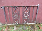 Vintage Antique Single Section Heavy Duty Wrought Iron Railing/pickup Only