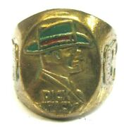 1940's Dick Tracy Green Hat Ring Millers Hats Premium F1